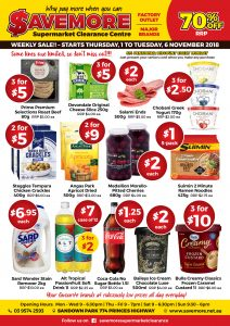 Savemore Weekly Sale Catalogue 1-6 November 2018
