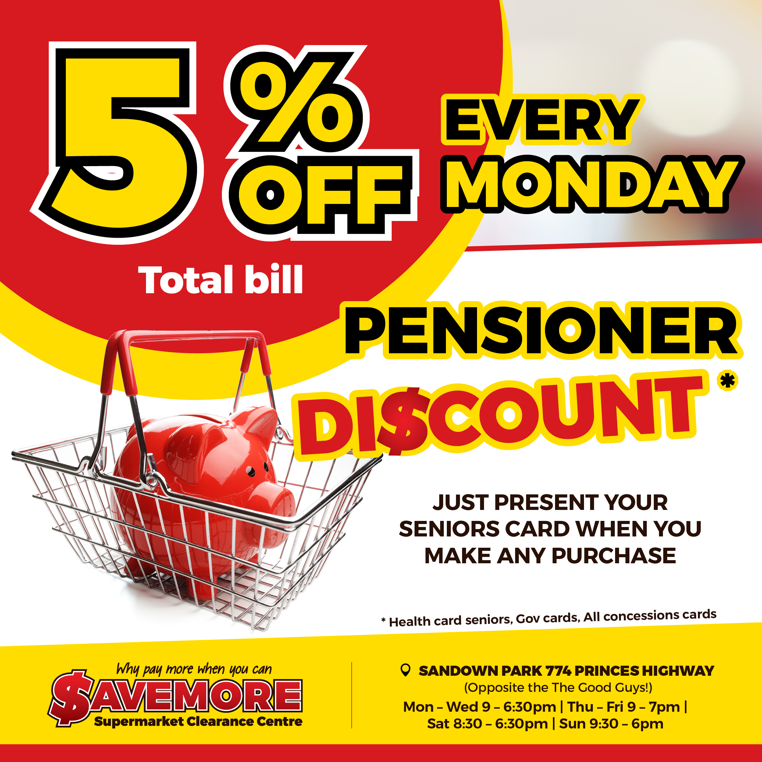 Savemore Supermarket Clearance Centre | MONDAY DISCOUNT